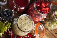 Homemade fruit jam in the jar Stock Photography