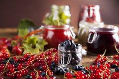 Homemade fruit jam in the jar Royalty Free Stock Photos