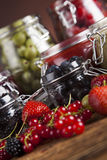 Homemade fruit jam in the jar Royalty Free Stock Photography