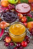 Homemade fruit jams Royalty Free Stock Photo