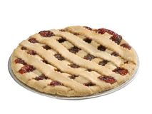 Homemade fruit pie. Fruit pie with clipping path stock images