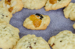 Homemade Fruitcake Cookies Stock Photos