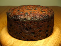 A homemade fruitcake Stock Image