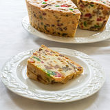 Homemade Fruitcake Stock Images