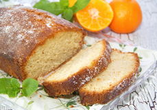 Homemade fruitcake Stock Photography