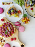 Homemade fruits tarts and pies Royalty Free Stock Photos