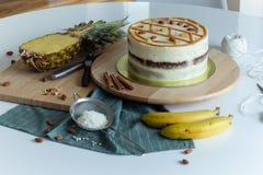 Homemade fruity Hummingbird cake royalty free stock photo