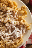 Homemade Funnel Cake with Powdered Sugar Royalty Free Stock Photos