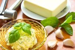 Homemade garlic butter Royalty Free Stock Image