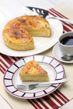 Homemade gateau basque Royalty Free Stock Images