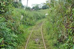Free Homemade `ghost Train` Running On Abandoned Railroad Tracks Royalty Free Stock Image - 107585316