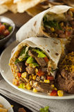 Homemade Giant Beef Burrito Royalty Free Stock Photo