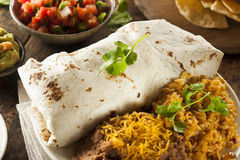 Homemade Giant Beef Burrito Royalty Free Stock Photos