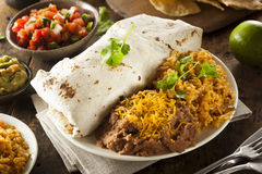Homemade Giant Beef Burrito Stock Image