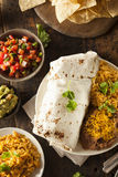 Homemade Giant Beef Burrito Royalty Free Stock Image