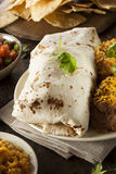 Homemade Giant Beef Burrito Royalty Free Stock Images