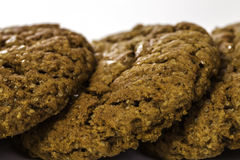 Homemade ginger biscuits close-up Stock Photos