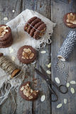 Homemade gingerbread and almonds cookies Royalty Free Stock Photography