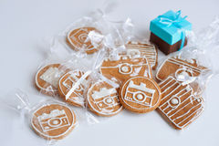 Homemade gingerbread biscuits Stock Photography