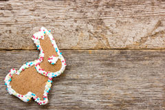 Homemade gingerbread bunny Royalty Free Stock Photos