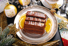 Homemade gingerbread cake for christmas Stock Images