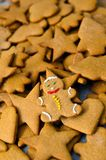 Homemade gingerbread Christmas cookies Royalty Free Stock Photography