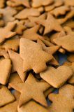 Homemade gingerbread Christmas cookies Stock Photos