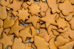 Homemade gingerbread Christmas cookies Stock Image