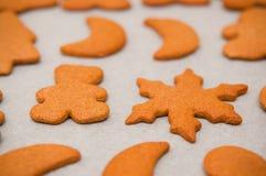 Homemade gingerbread Christmas cookies Stock Photo