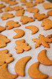 Homemade gingerbread Christmas cookies royalty free stock images