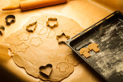 Homemade gingerbread cookies Stock Photos