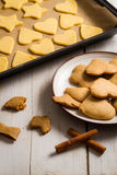 Homemade gingerbread cookies Royalty Free Stock Image