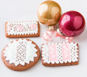 Homemade gingerbread cookies. Stock Image