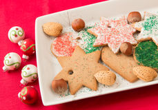Homemade gingerbread cookies. Royalty Free Stock Images