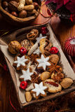 Homemade gingerbread and cookies for Christmas Stock Photos