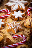Homemade gingerbread and cookies for Christmas Stock Images