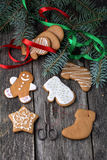 Homemade gingerbread cookies Stock Photos