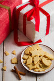 Homemade gingerbread cookies and gifts Stock Photography