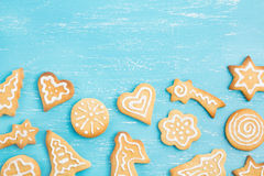 Homemade gingerbread cookies Stock Photography