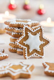 Homemade Gingerbread Cookies with White Icing Royalty Free Stock Image