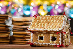 Homemade gingerbread Cottage Stock Images