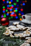 Homemade gingerbread and a cup of tea Royalty Free Stock Images