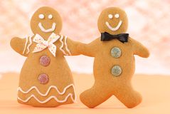 Homemade Gingerbread Figures Stock Photos