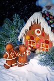 Homemade gingerbread house Royalty Free Stock Photography