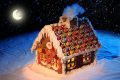 Homemade gingerbread house Royalty Free Stock Image