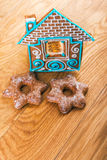 homemade gingerbread house Stock Image