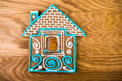homemade gingerbread house Stock Photography