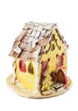 Homemade gingerbread house Royalty Free Stock Photos