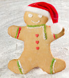 Homemade gingerbread man Royalty Free Stock Photography