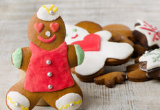 Homemade gingerbread man Stock Photo